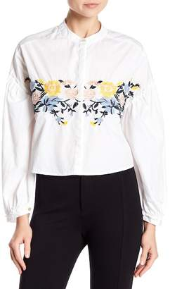 Love, Fire Embroidered Ruffle Blouse