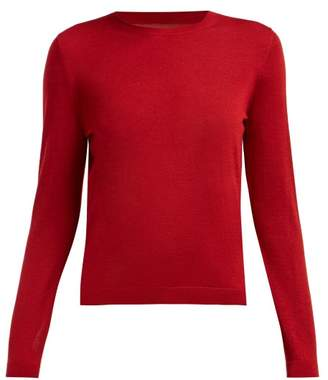RED Valentino Point D'esprit Panelled Cashmere Blend Sweater - Womens - Red