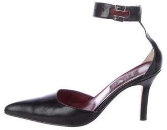 Carlos Falchi Leather d'Orsay Pumps