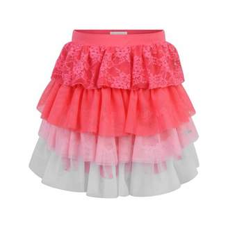 GUESS GuessGirls Pink Lace & Tulle Skirt