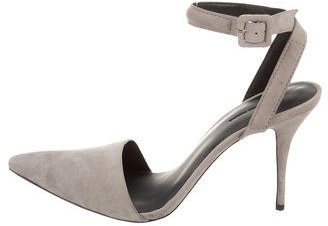 Alexander Wang Suede Ankle-Strap Pumps