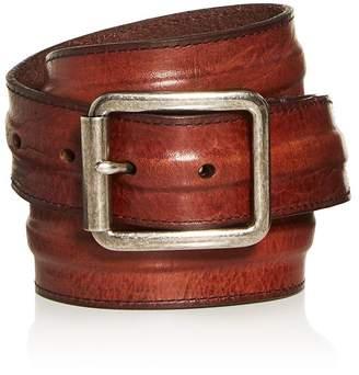 Frye Men's Trapunto Leather Belt