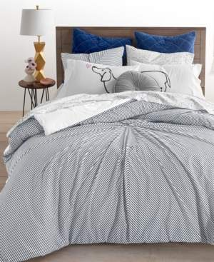 Martha Stewart Closeout! Whim By Collection 3-Pc. Knot Stripe Full/Queen Comforter Set, Created for Macy's Bedding