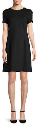 Lord & Taylor Ponte Fit--Flare Dress