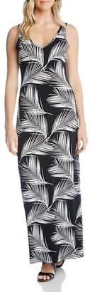 Karen Kane Sleeveless Palm-Print Maxi Dress