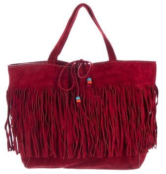 Miu Miu Miu Miu Fringe Suede Handle Bag