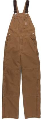 Carhartt Quilt-Lined Sandstone Bib Overall Pant - Men's