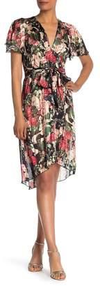 Anna Sui Rose Garland Crepe Hi-Lo Dress