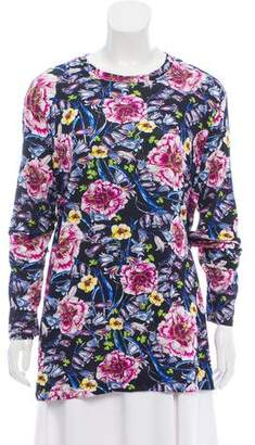Prabal Gurung Floral Print Long Sleeve Top