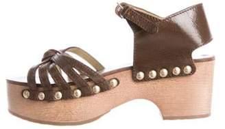 Chanel CC Platform Sandals gold CC Platform Sandals