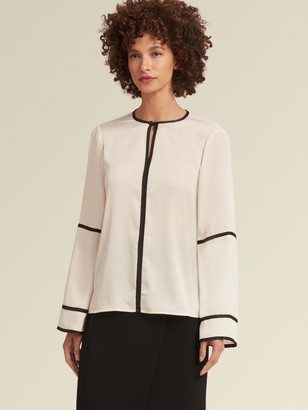 DKNY Crewneck Top With Bell Sleeves