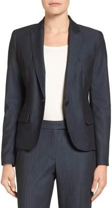 Anne Klein Twill One-Button Jacket