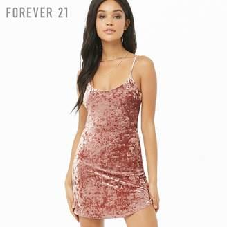 Forever 21 (フォーエバー 21) - Forever 21 クラッシュベロアキャミソールミニワンピース