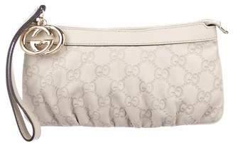 Gucci Guccissima Leather Wristlet