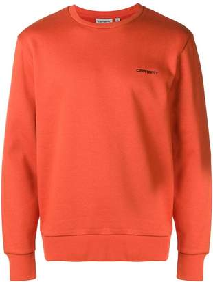 Carhartt logo embroidered sweatshirt