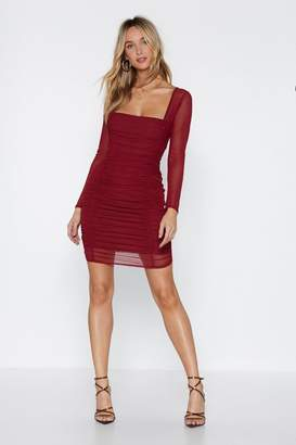 Nasty Gal Truly Meshed Bodycon Dress