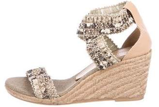 Jean-Michel Cazabat Embossed Espadrille Wedges