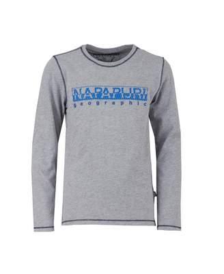 Napapijri Sion Long Sleeved Contrast Logo T-shirt