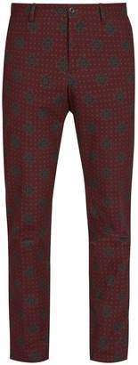 Etro Jacquard cotton-blend trousers