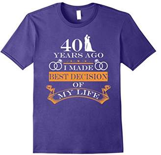 40th Wedding Anniversary Gifts Her/Him. Couple T shirts