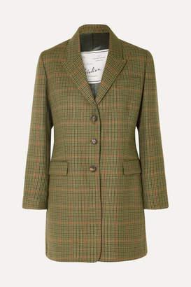 Giuliva Heritage Collection Karen Checked Wool Blazer - Green