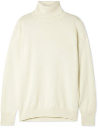 The Row Janillen Oversized Cashmere Turtleneck Sweater - Ivory
