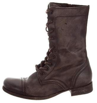 AllSaints Round-Toe Distressed Boots
