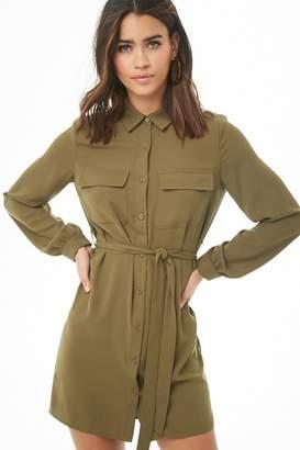 Forever 21 Long Sleeve Shirt Dress