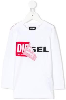 Diesel peel off logo tee