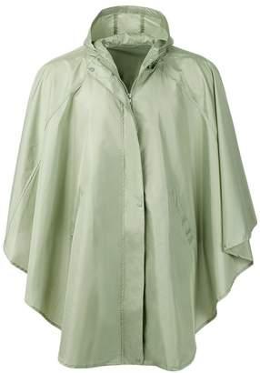 Freesmily Women's Stylish Waterproof Raincoat Rain Poncho Hood Hiking Biking