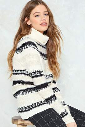 Nasty Gal Make Knit Happen Patterned Sweater
