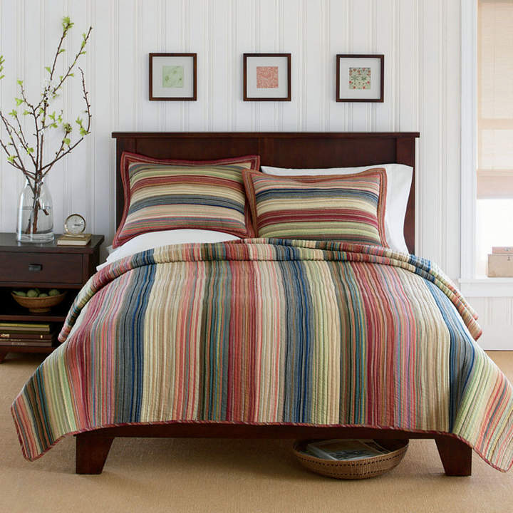 Asstd Private Brand Retro Chic Cotton Striped Quilt