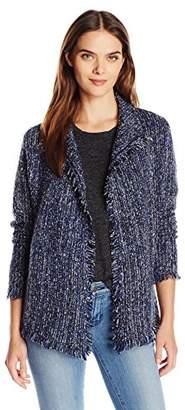 Velvet by Graham & Spencer Women's Tweed Knit Cardigan Jacket