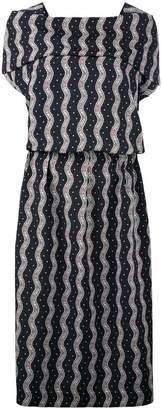 Loewe wavy print midi dress