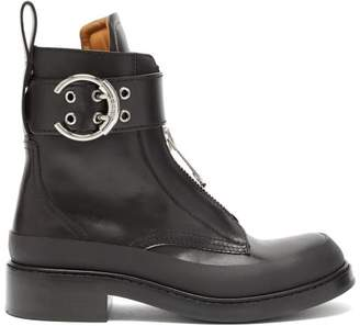 Chloé Leather Zip Boots - Womens - Black