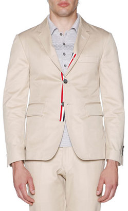 Thom Browne Unstructured Classic Twill Jacket, Khaki $1,350 thestylecure.com