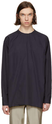 Marni Navy Back Button Shirt
