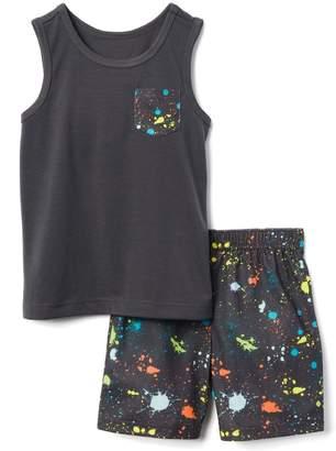 Gymboree Splatter 2-Piece Shortie Pajamas