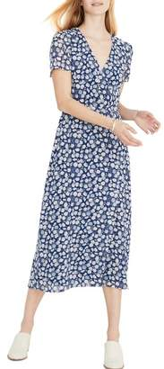 8b4e44772ce Madewell Floral Wrap Front Midi Dress