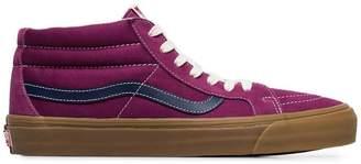 Vans SK8 mid LX purple suede skater shoes