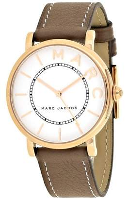 Marc Jacobs Women's 'Roxy' Quartz Stainless Steel and Leather Casual Watch