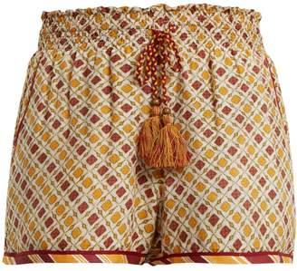 TALITHA Tutsi graphic-print cotton and silk-blend shorts