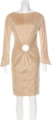 Gianfranco Ferre Long Sleeve Knee-Length Dress