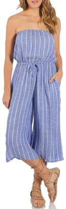 Elan International Striped Coulotte Jumpsuit
