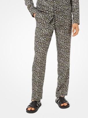 Michael Kors Camouflage Silk Pajama Pants