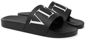 Valentino Vltn Printed Rubber Slides