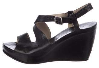AGL Leather Wedge Sandals