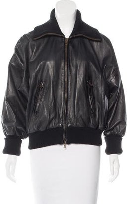 Theory Leather Bomber Jacket $225 thestylecure.com