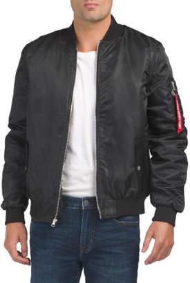 Ruched Sleeve Bomber Jacket