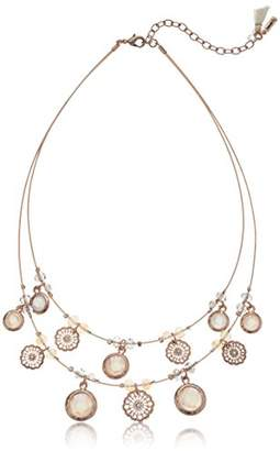 lonna & lilly Rose Gold-Tone and 16 Inch Lace Coin Frontal Neckalce